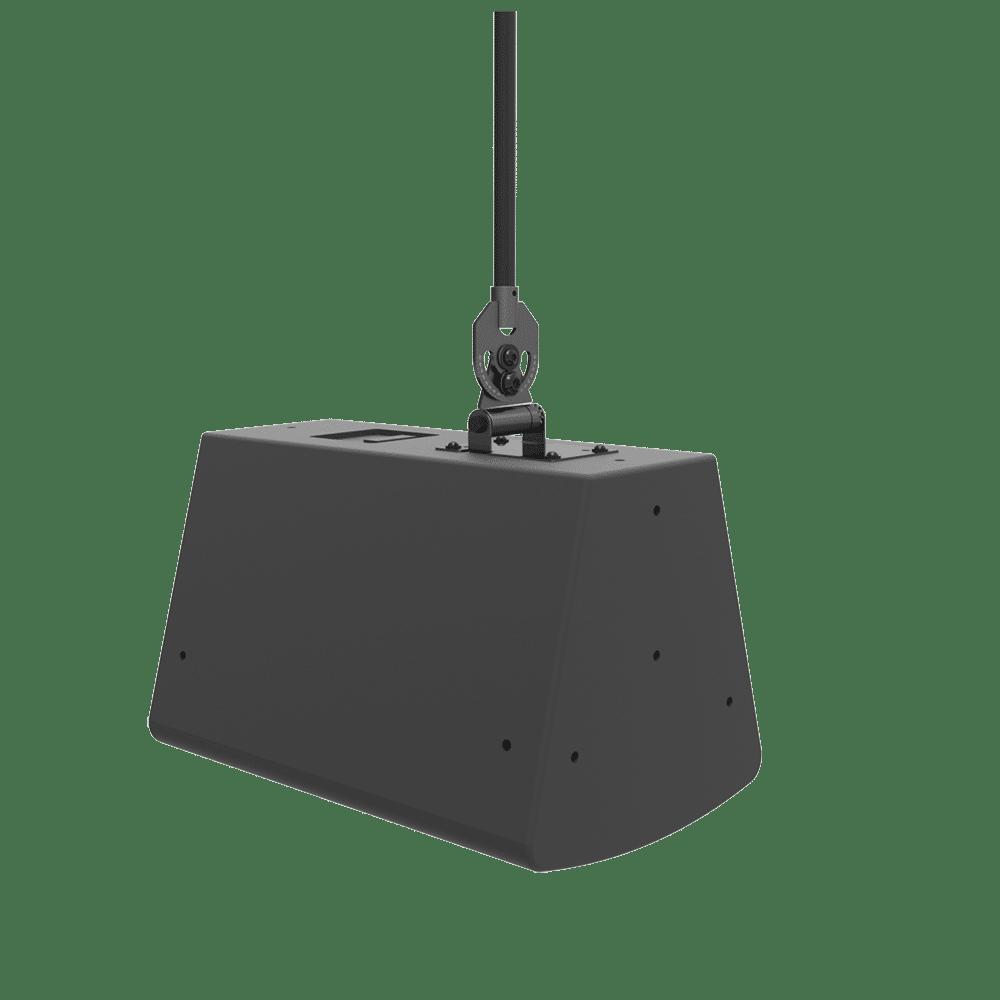 Pan, tilt and roll audio mount.