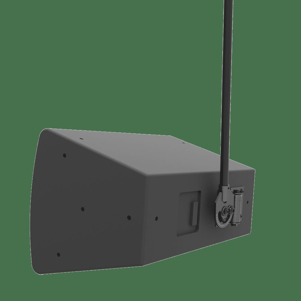 Pan, tilt and roll speaker mounts.