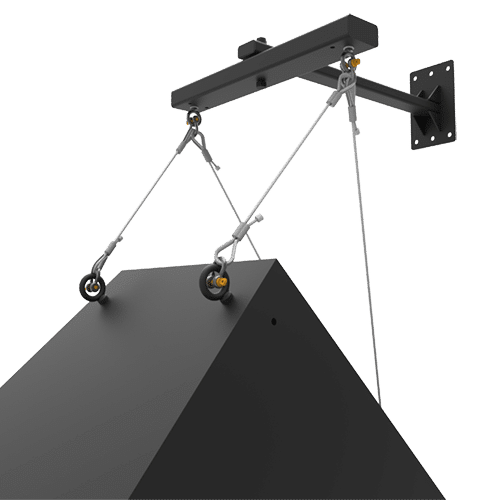 SAS-100-WM | 100lb Indoor Steerable Audio Wall Arm Mount