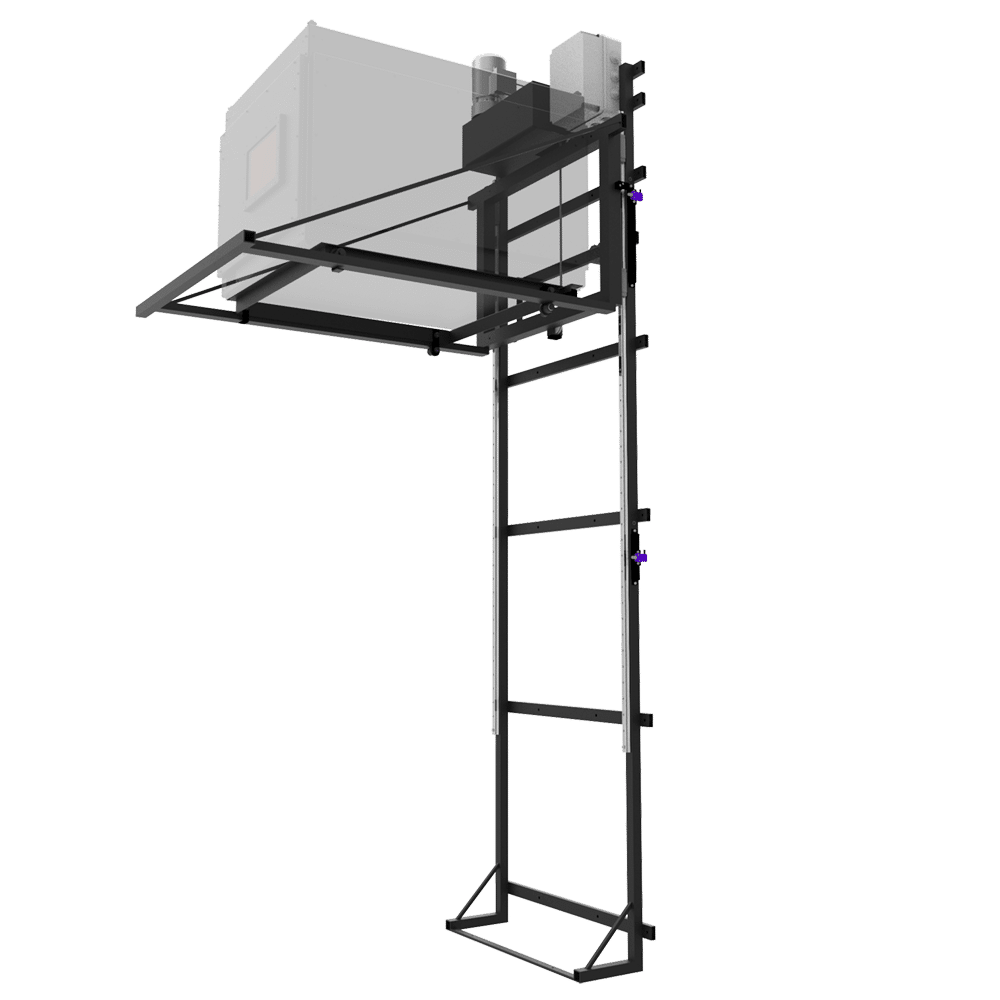 Rail Guided, Wall Mounted Projector Lifts