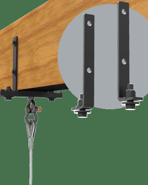 Wood beam clamp adapter