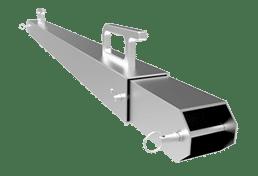 LED Ground Support Back Brace Silver