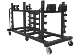 LED Ground Support Cart Black
