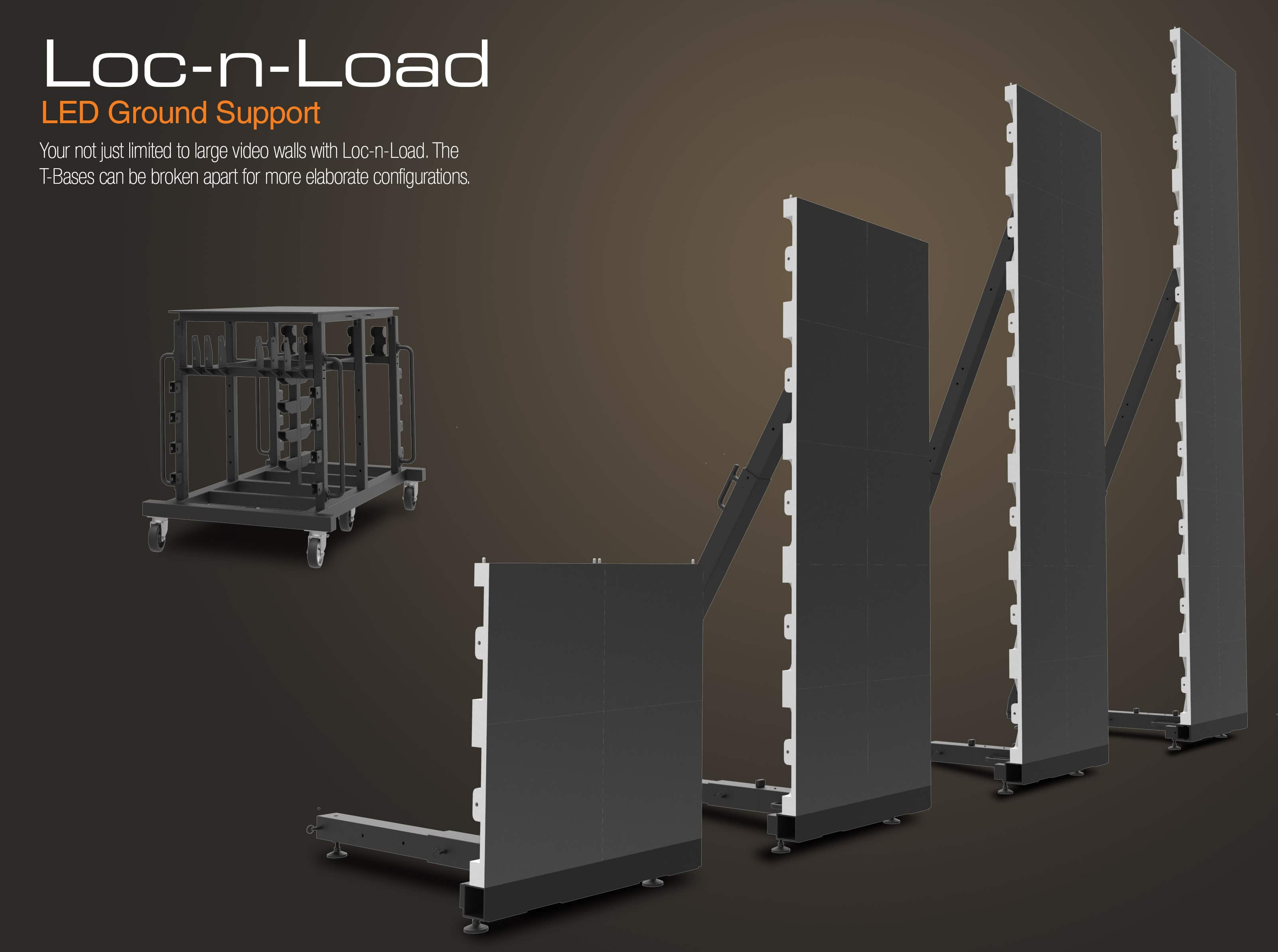 LED Ground Support Multiple Columns
